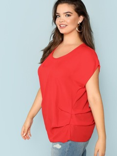 Ruched Side Short Sleeve Blouse