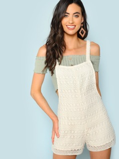 Crochet Sleeveless Romper
