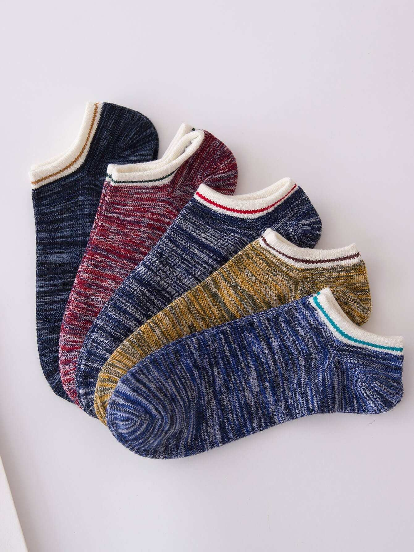 Контрастный низ 5пары носки