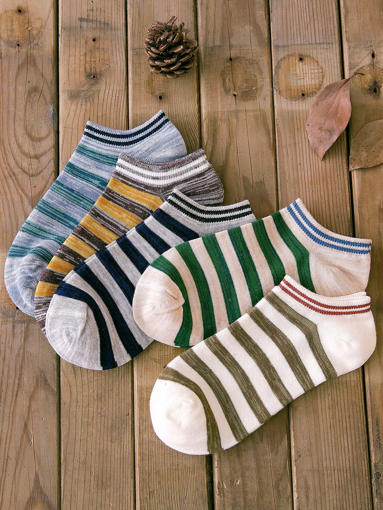 Полосатые носки 5пары