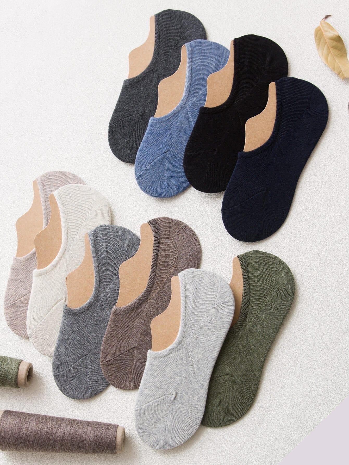 Случайный цвет равнина невидимые носки 5пары