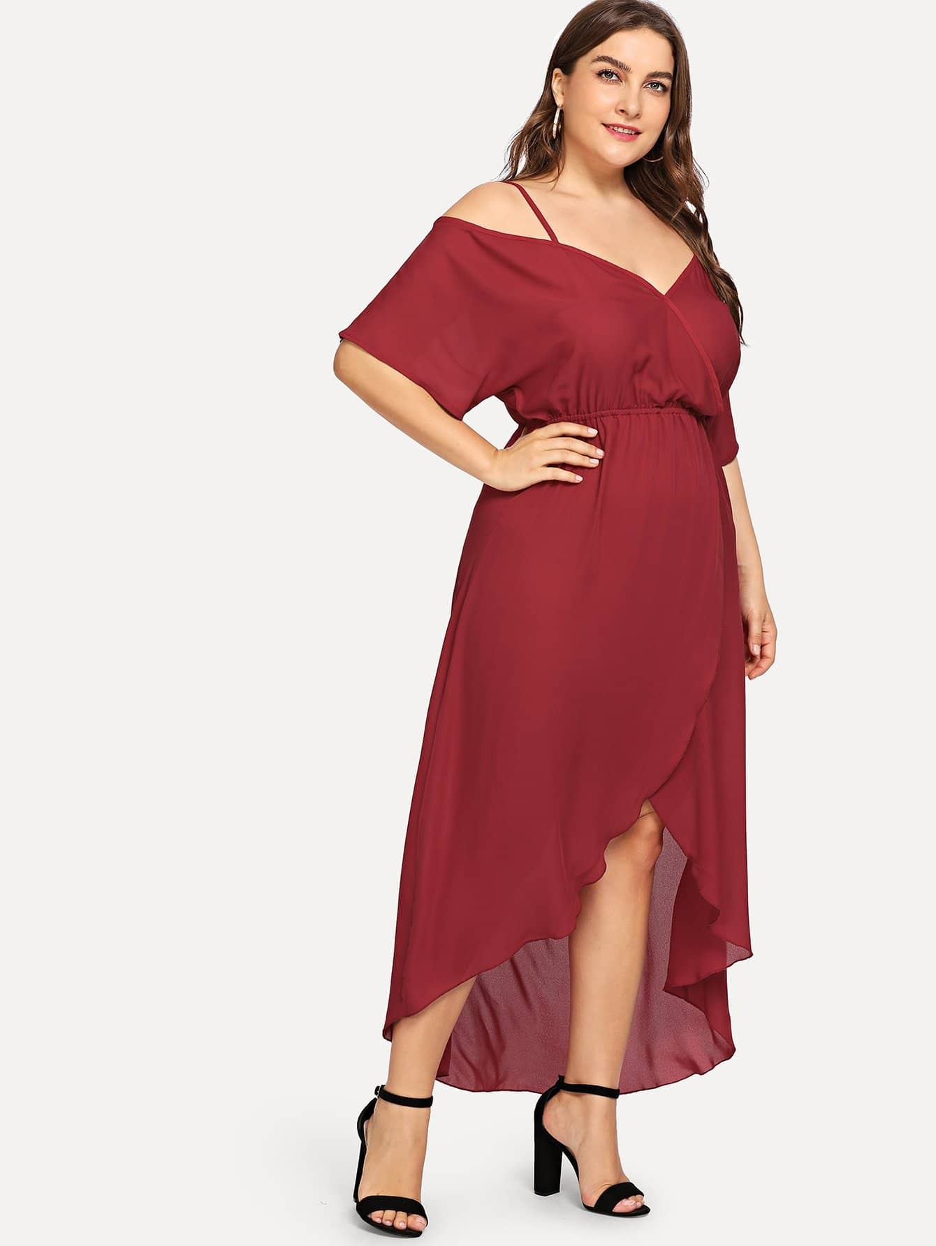 Купить Большое облегающое платье и Dip подол, Franziska, SheIn
