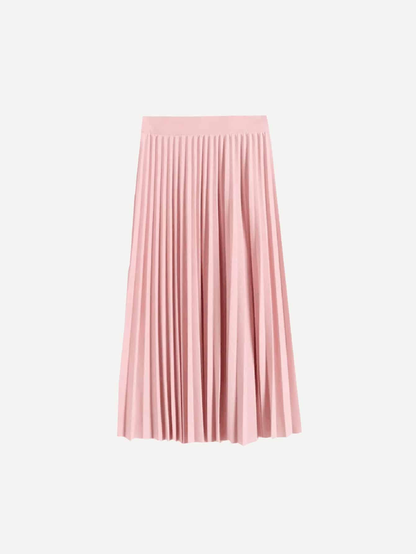 Купить Плиссированная простая юбка для девочки, null, SheIn