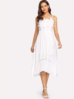 Appliques Solid Cami Dress