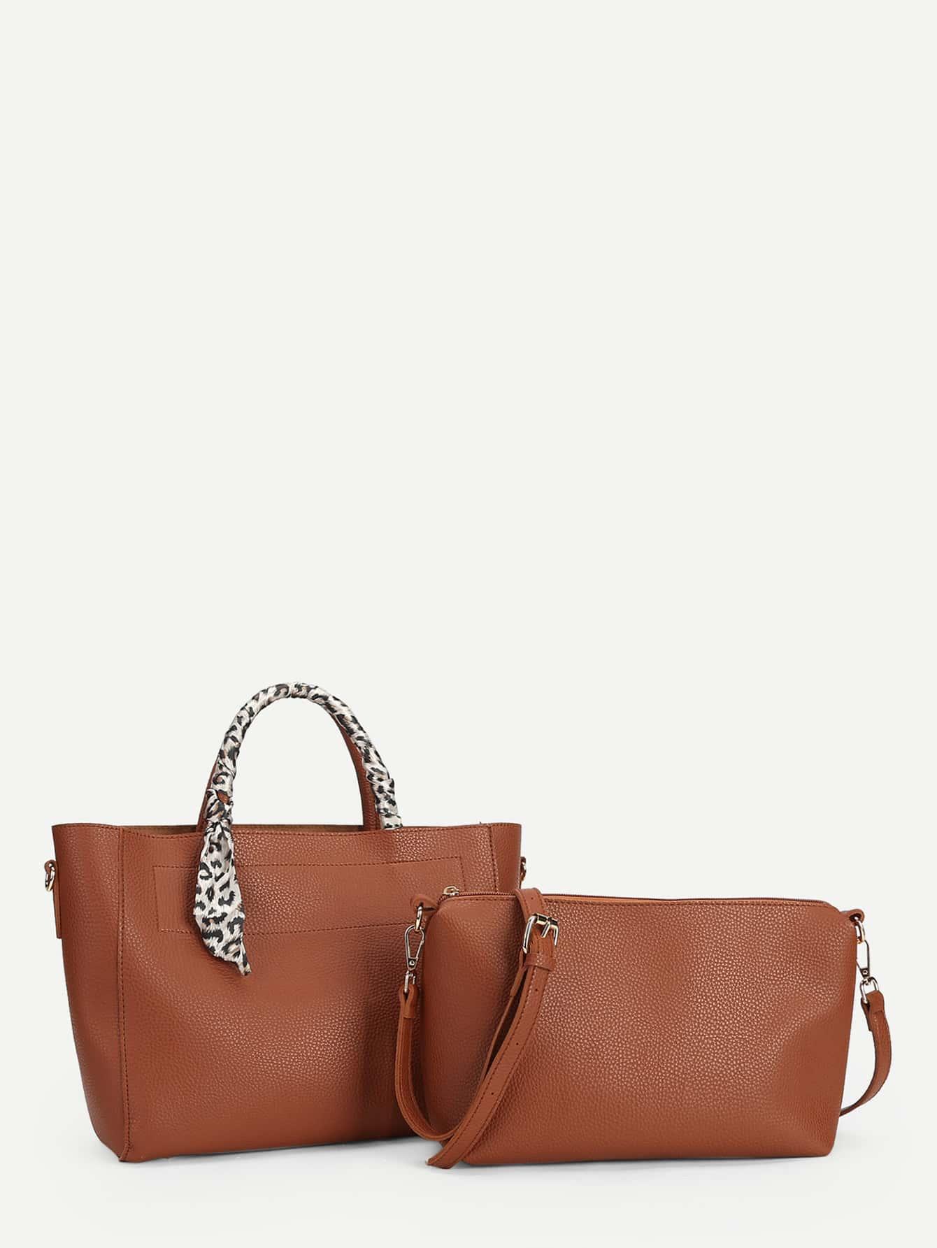 Twilly Decorated Tote Bag & Shoulder Bag Set rhinestone decorated shoulder bag