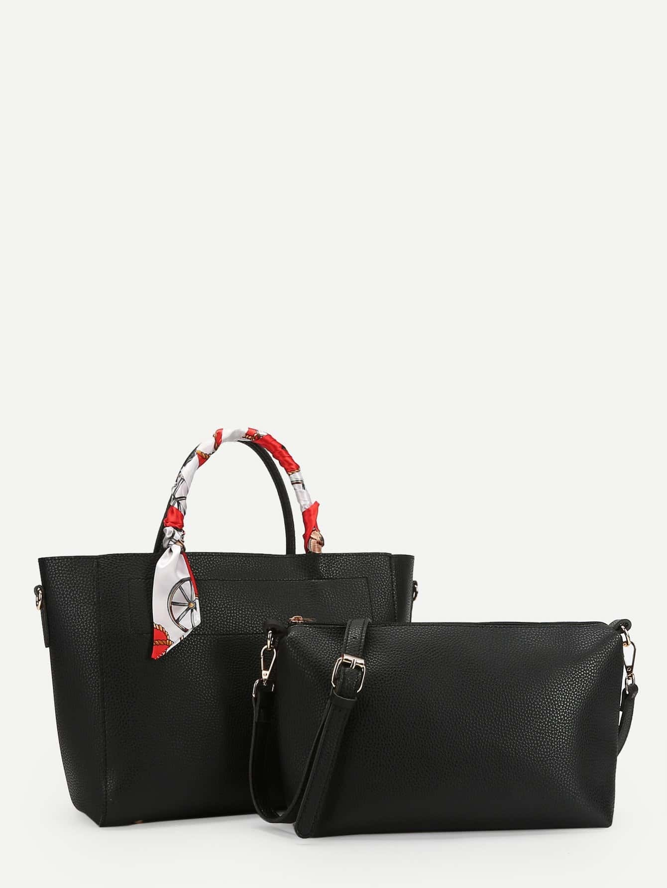 Купить Сумка с сумкой и наплечной сумкой Twilly Decorated, null, SheIn