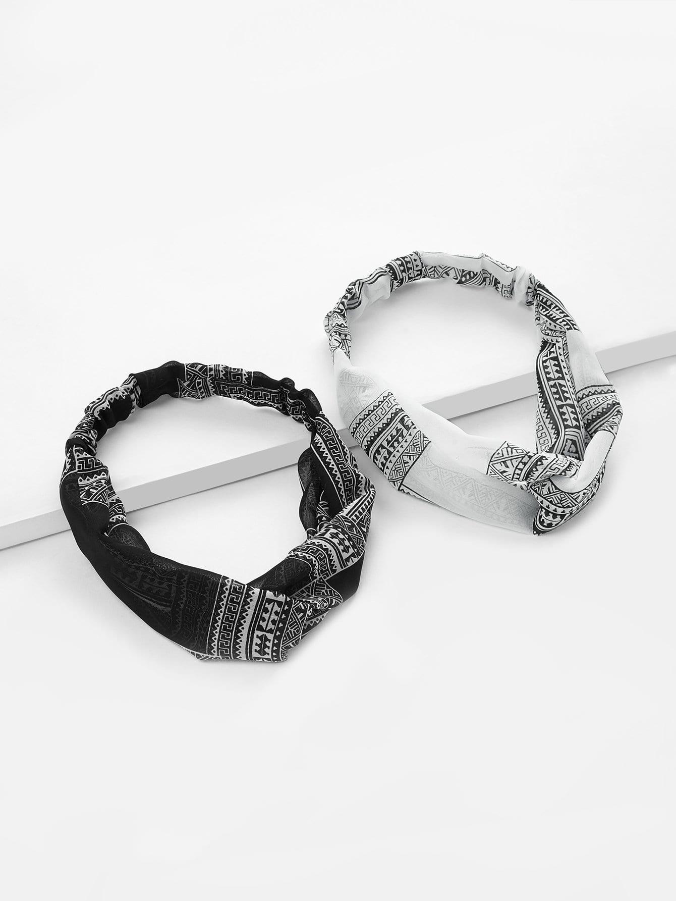 Twist Design Headband 2pcs