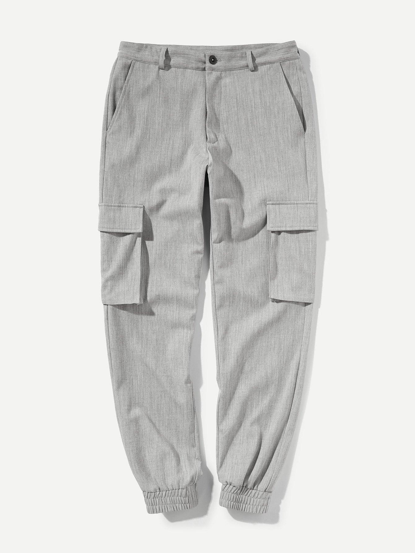 Купить Конусные брюки с украшением пуговицы и карманами по обе стороны для мужчины, null, SheIn