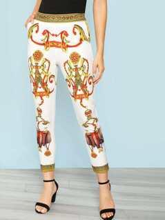 Printed Skinny Pant