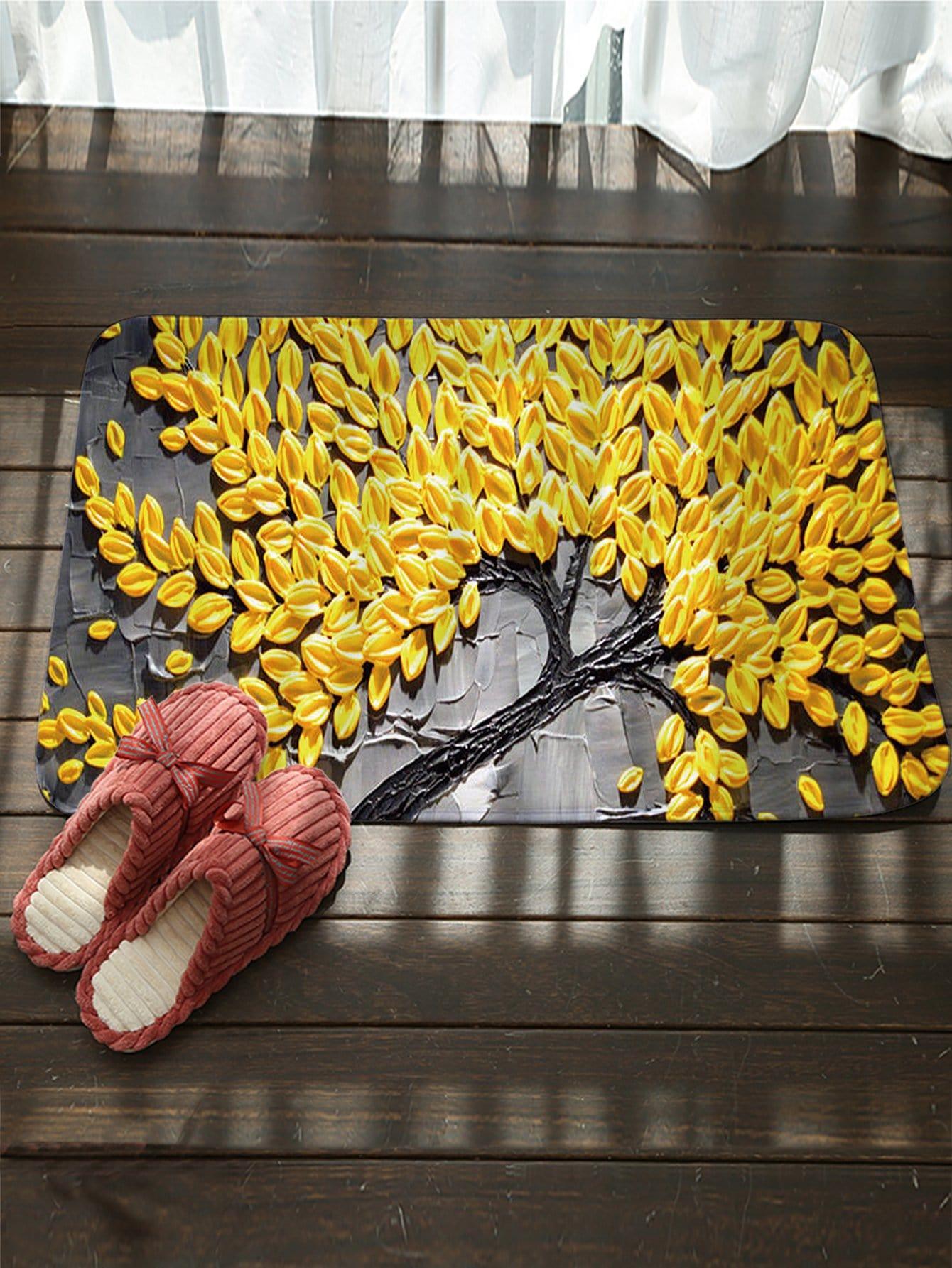 Купить Придверный коврик с рисунком дерева, null, SheIn