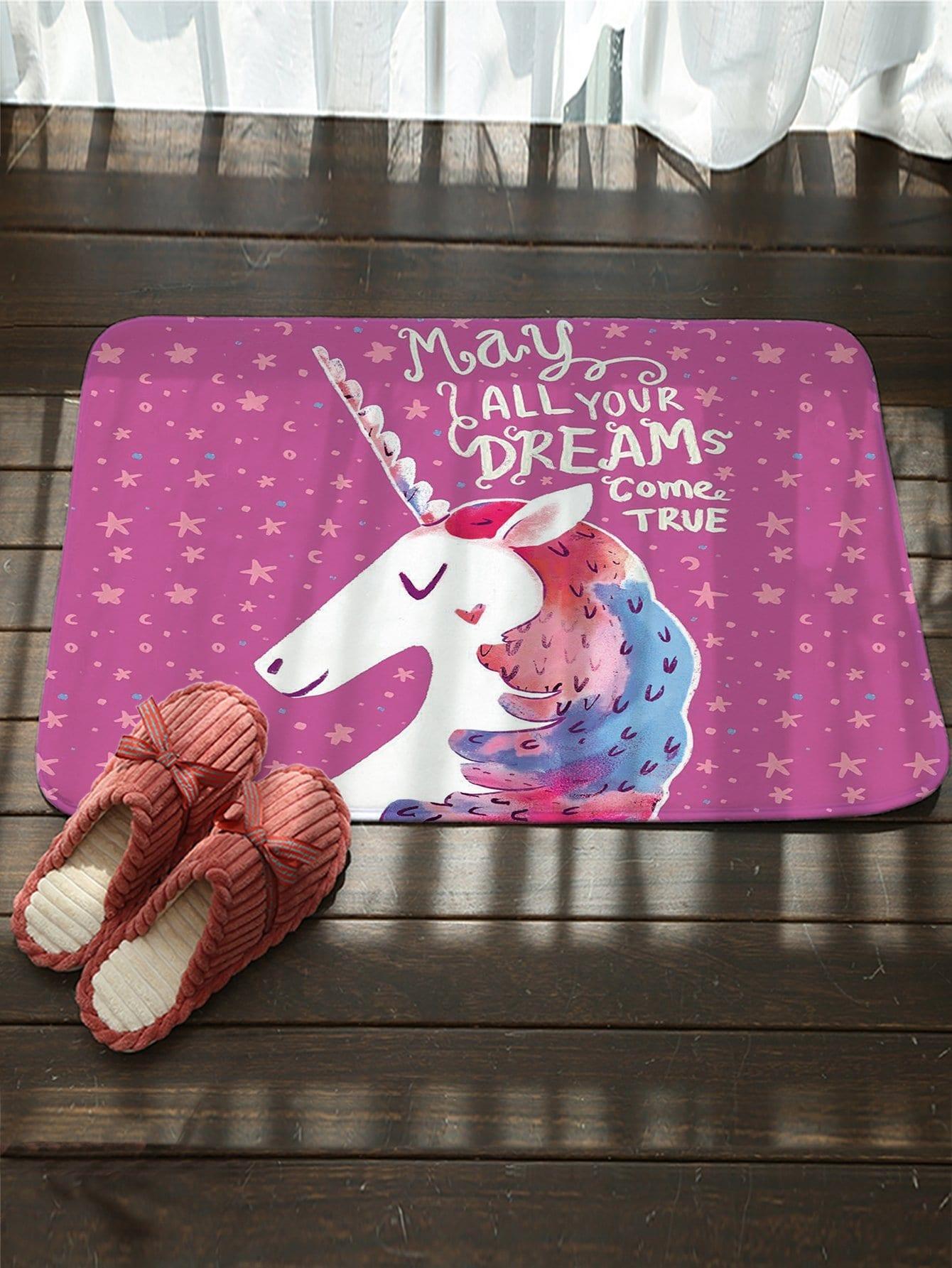 Unicorn Pattern Floor Mat
