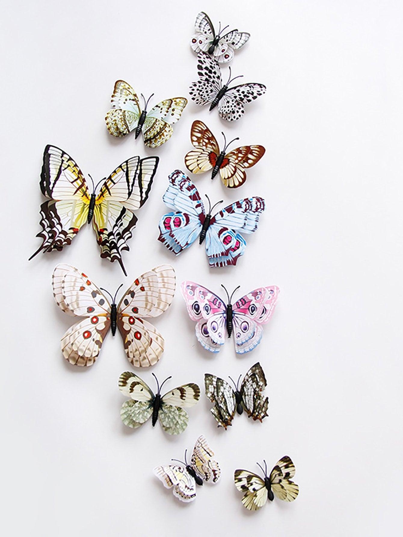 3D Schmetterling Wandaufkleber 12st