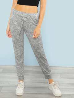 Skinny Speckled Sweatpants