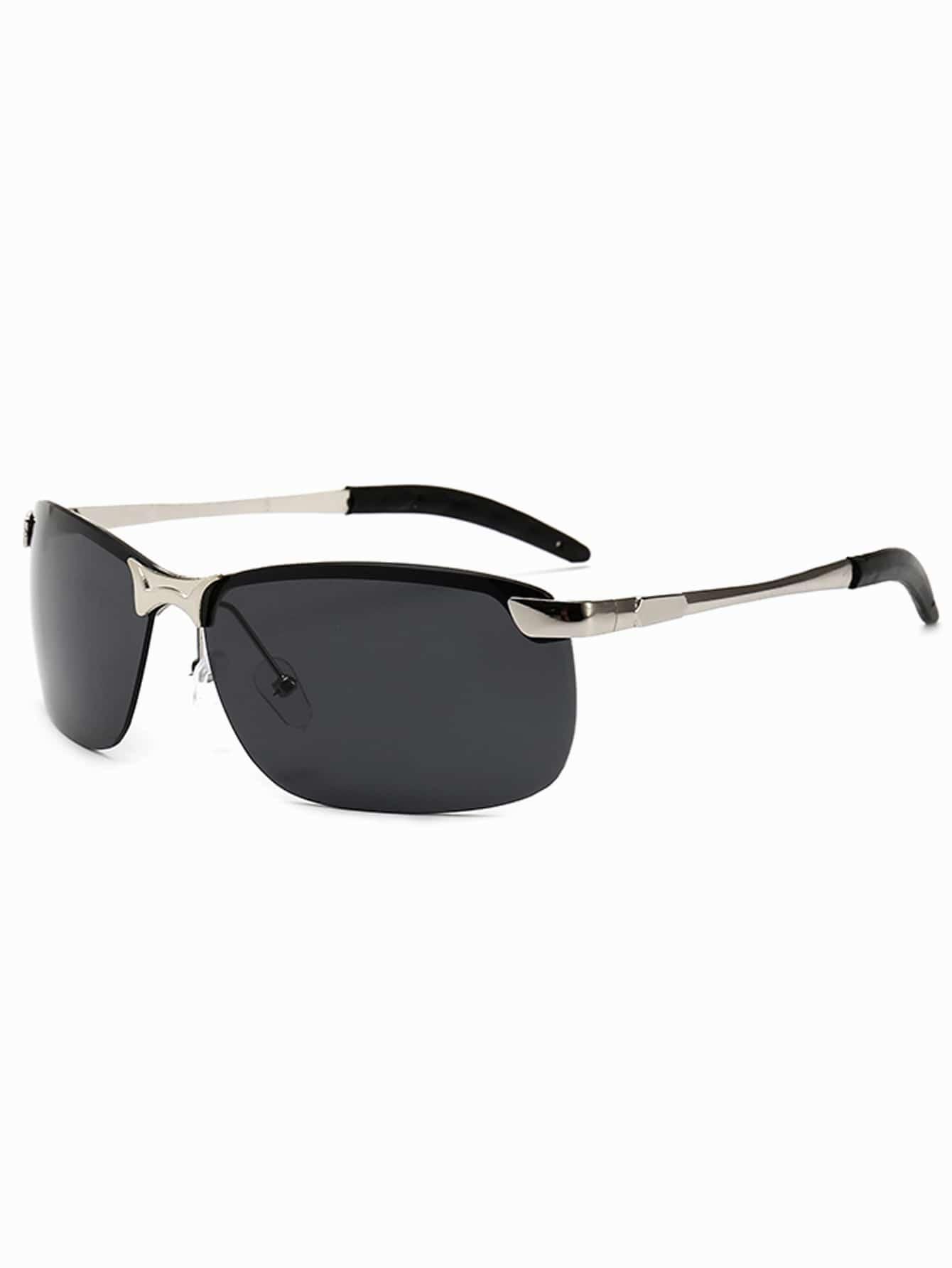 Мужчины Полу Без Оправы Солнцезащитные Очки