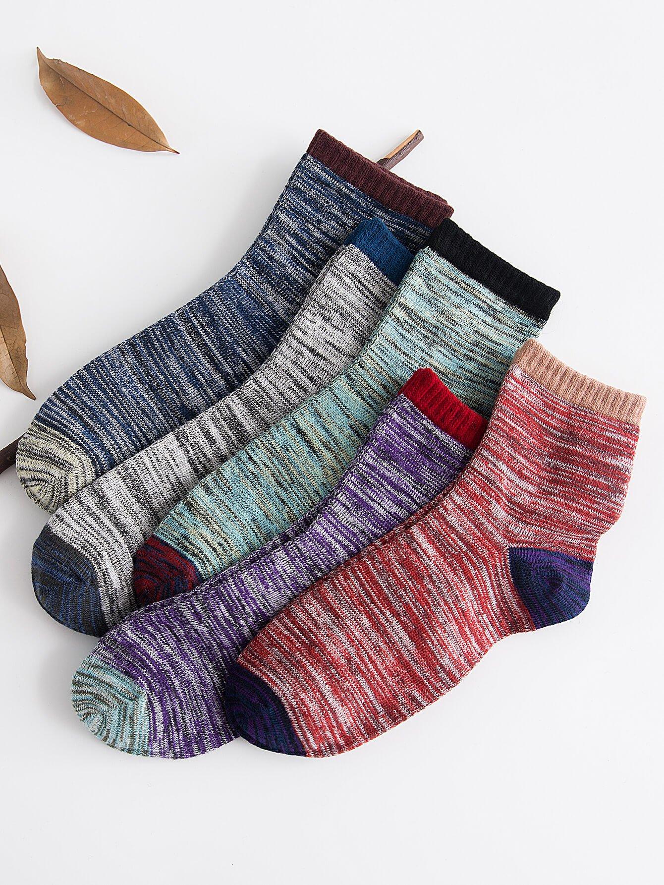 Men Space Dye Socks 5pairs