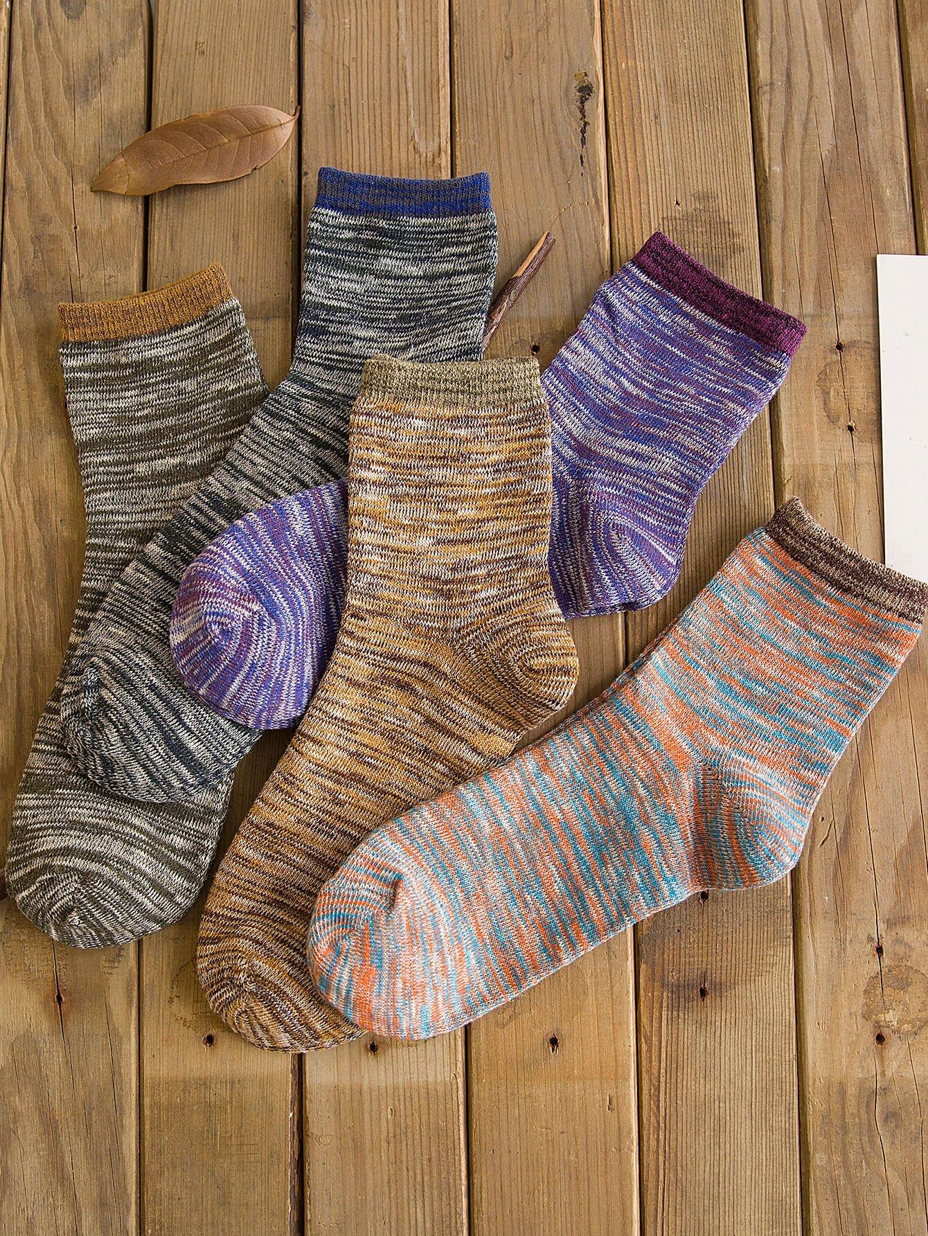 Männer Socken 5 Paare mit Raumfarbstoff