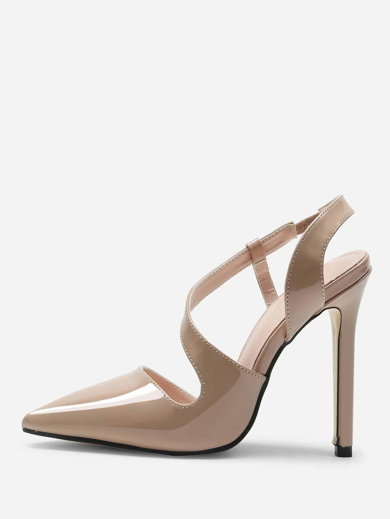 Купить Остроконечные туфли с лентами, null, SheIn
