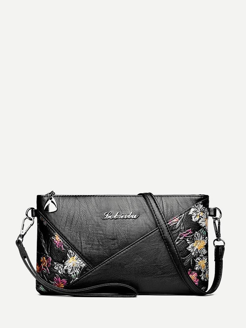 Floral Decor Cross Body Bag diesel frill trim cross body bag