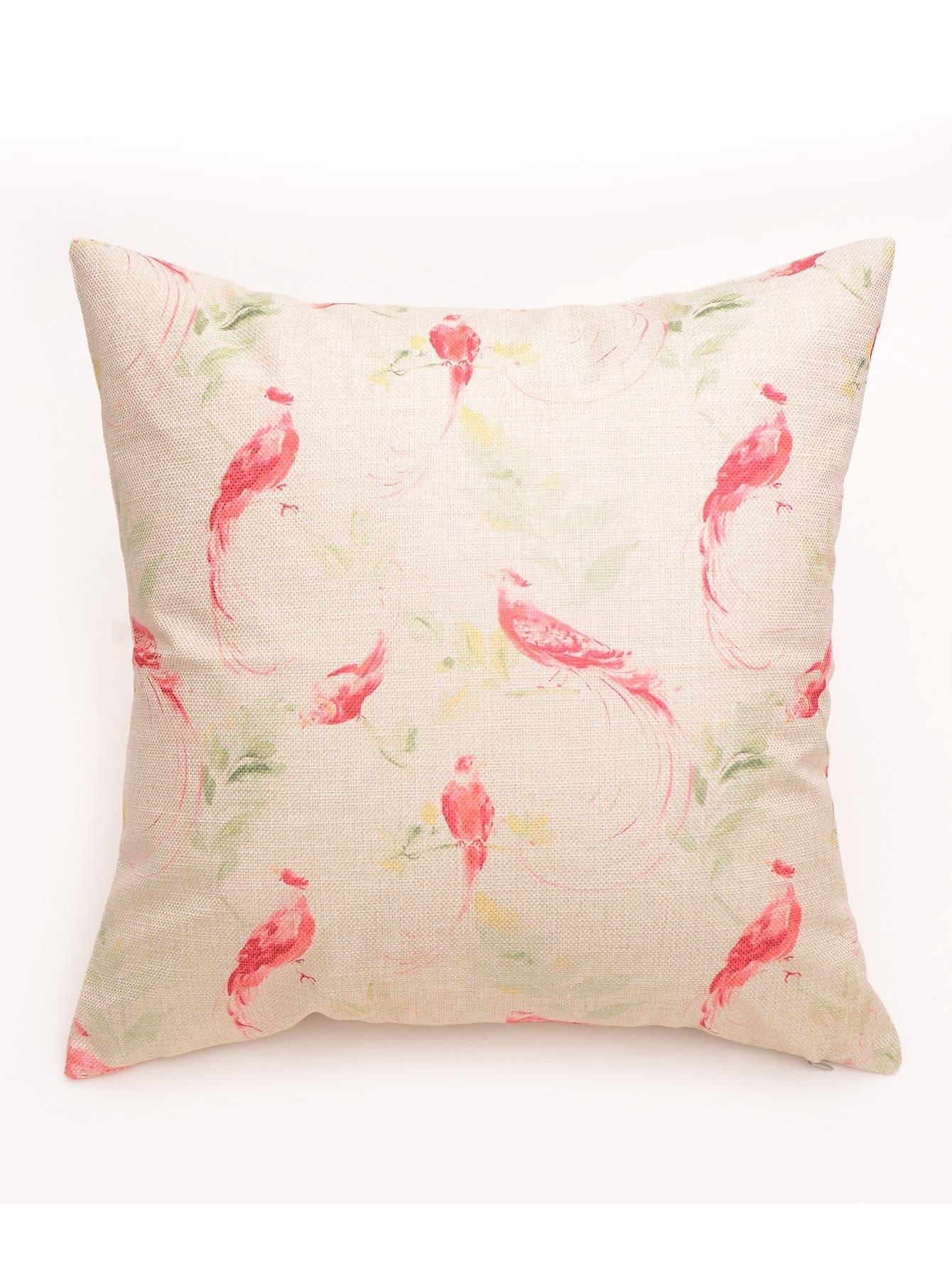 Купить Наволочка с рисунками птиц, null, SheIn
