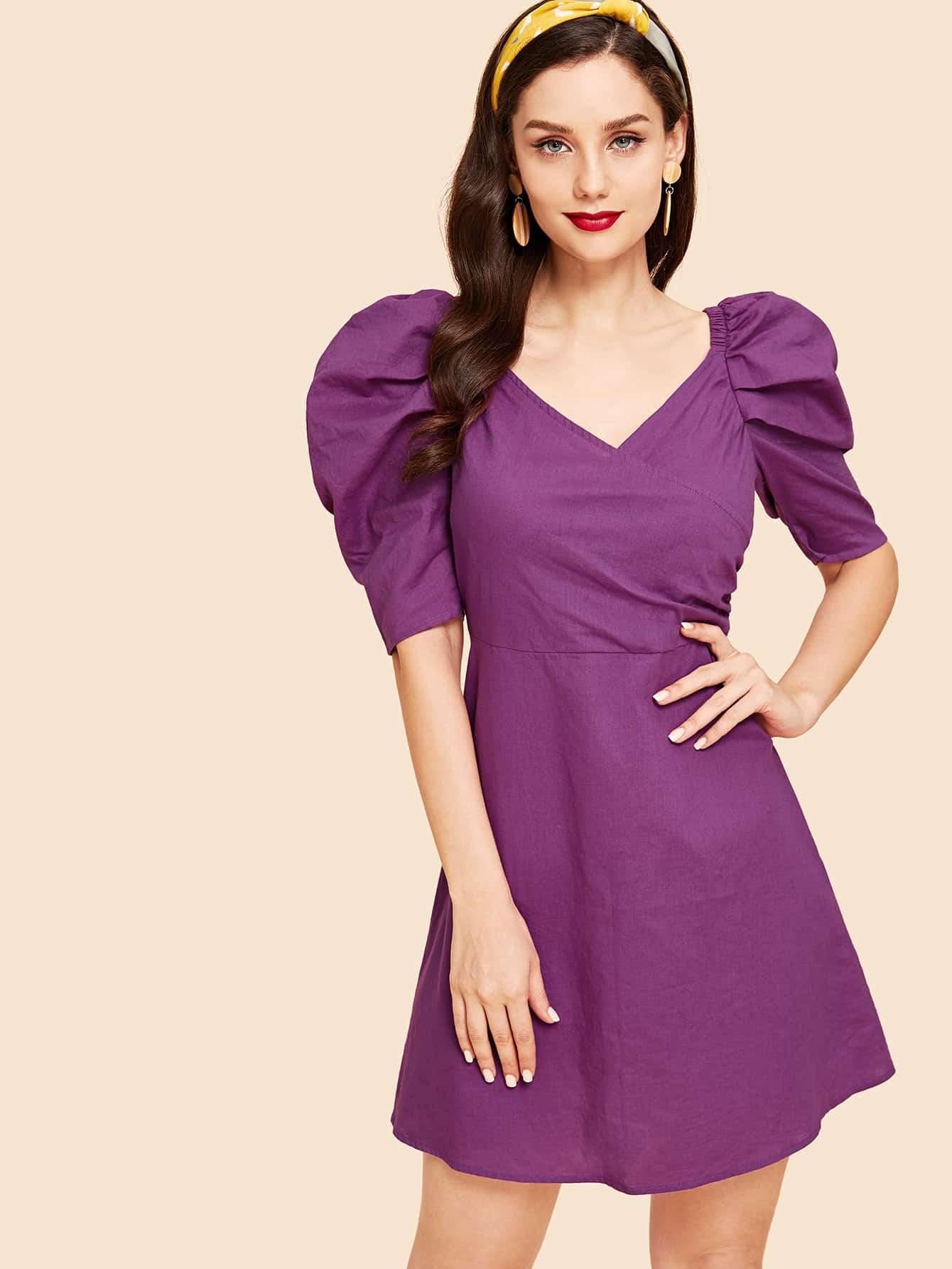 Купить Платье с пышными рукавами, Julie H., SheIn