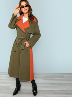Belted Cuff Trench Coat
