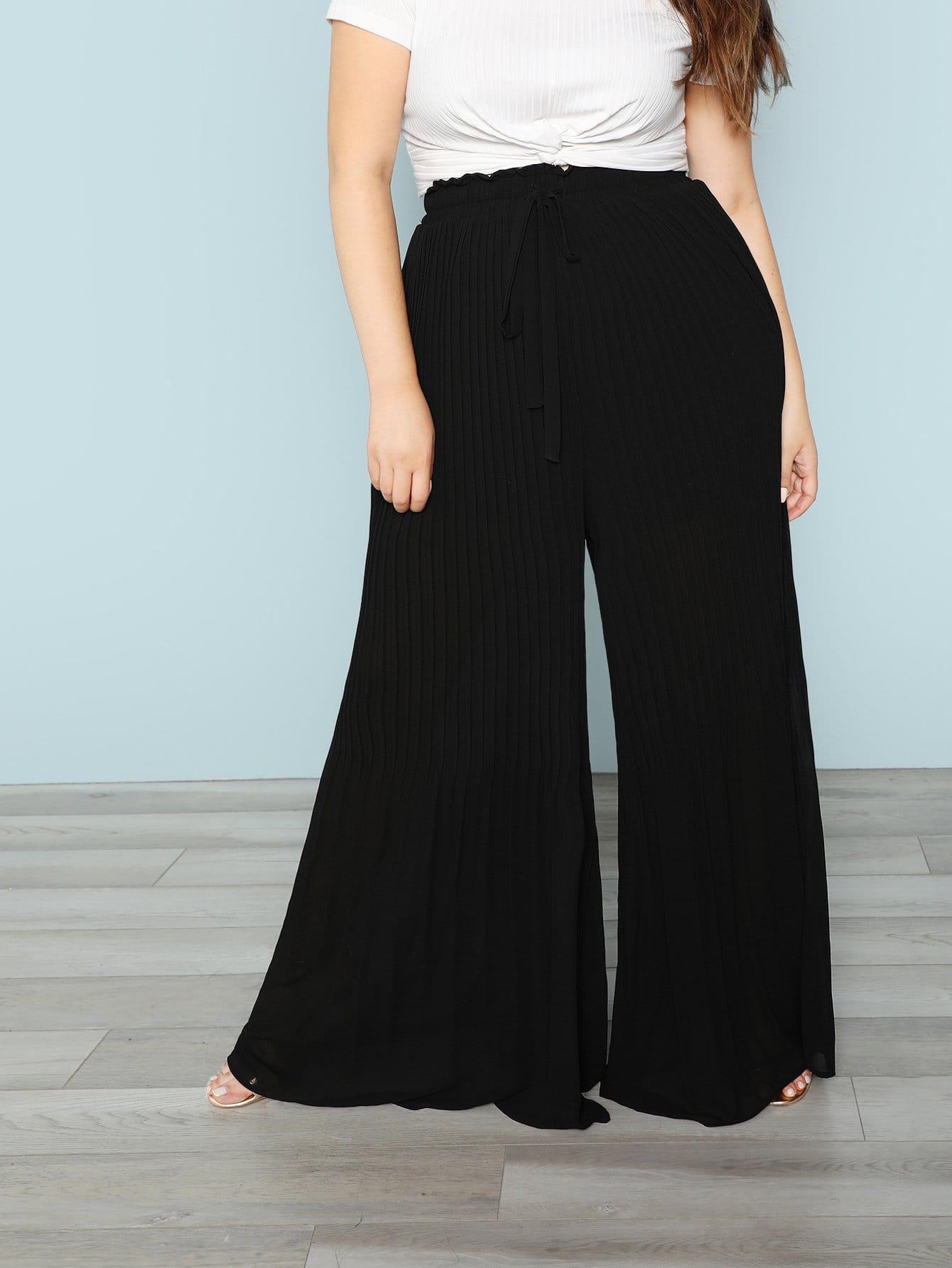 Купить Поясные брюки с широкими ногами, Bree Kish, SheIn