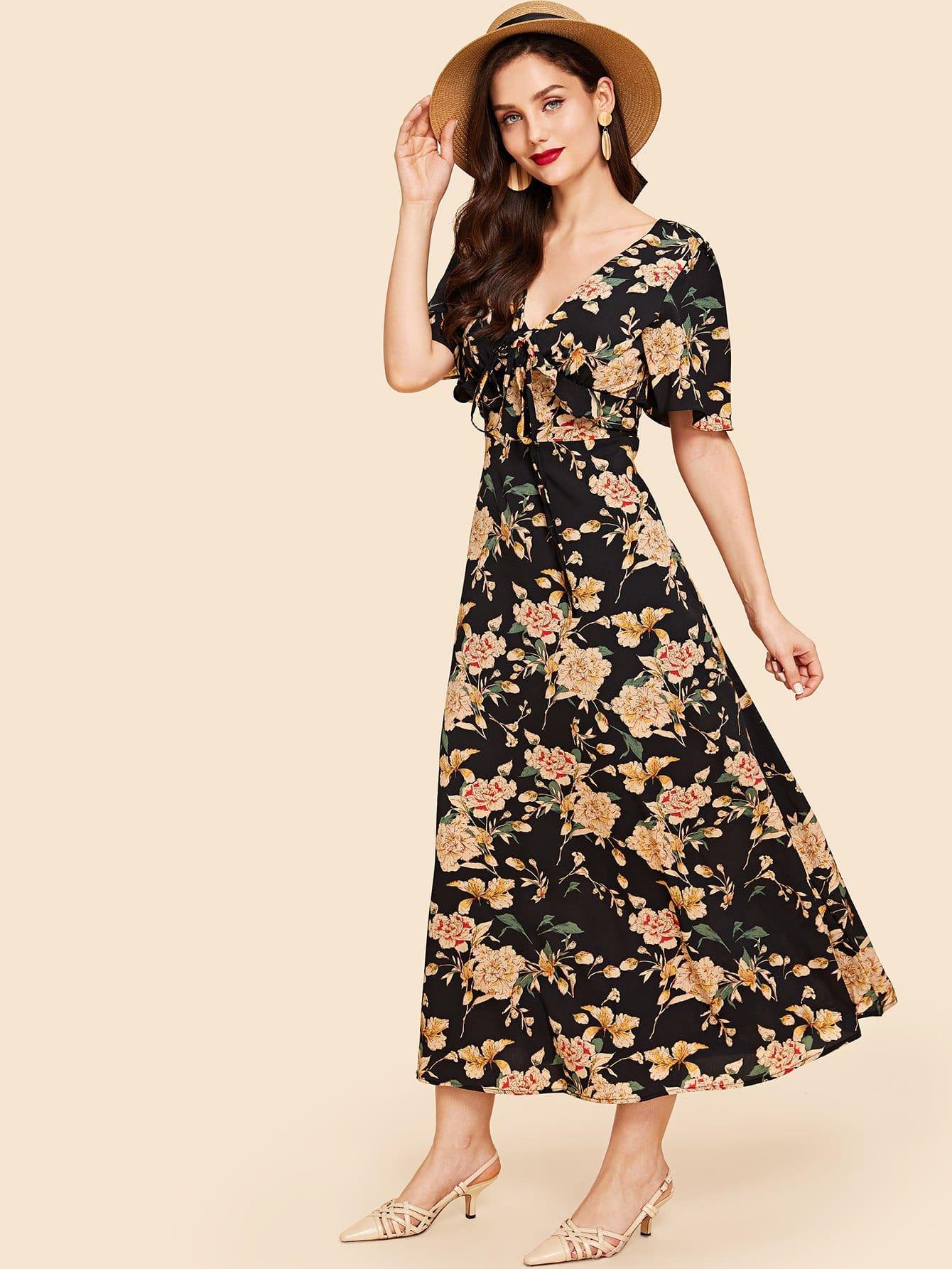 Рафловое обручальное кольцо переднего цветочного платья
