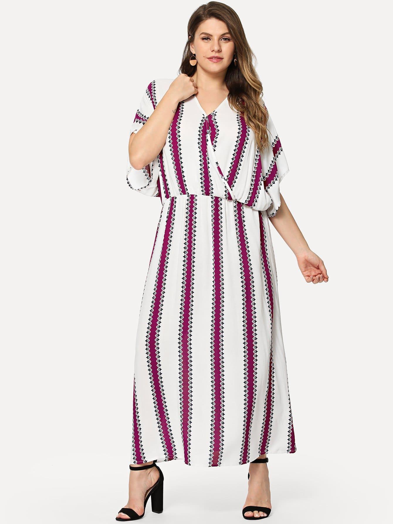 Купить Большое полосатое облегающое платье, Isabela, SheIn