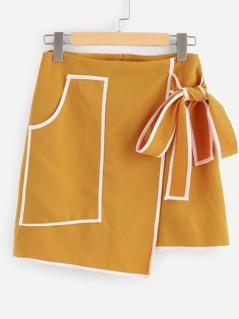 Pocket Front Knot Skirt