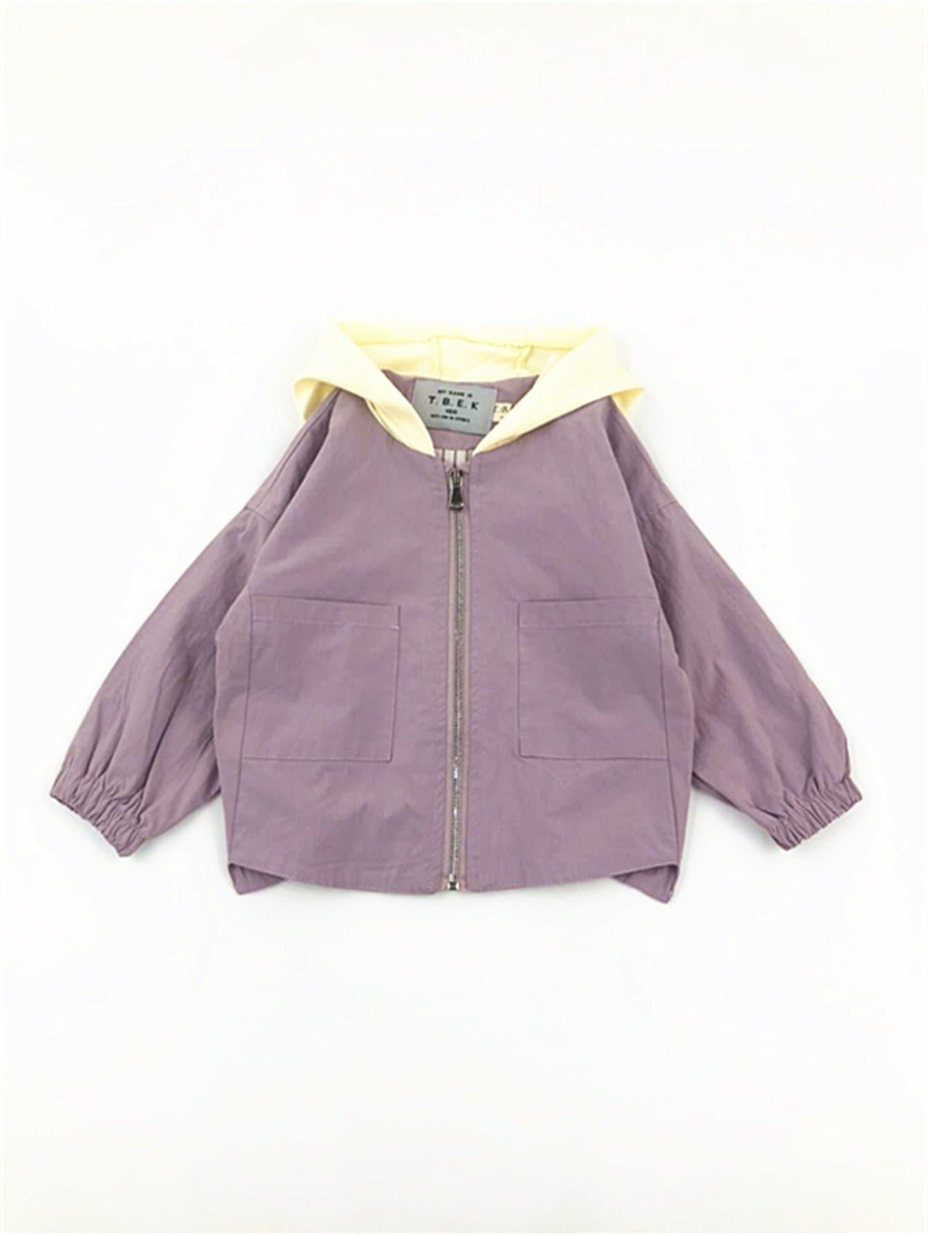 Girls Pocket Detail Hooded Jacket