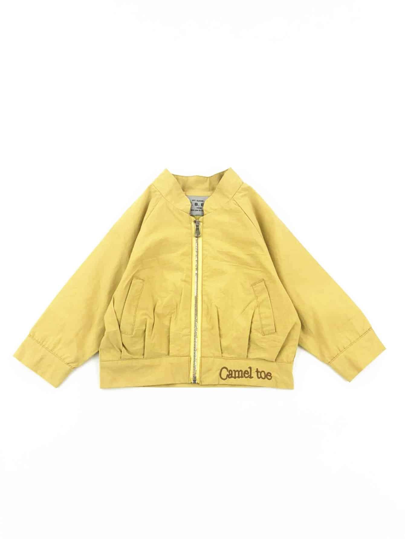 Девочки Деталь Вышивки Молния Fly Куртка