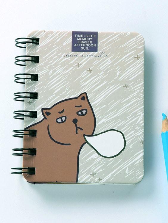 Купить Воздушная записная книжка с рисунками котов 80 шт, null, SheIn