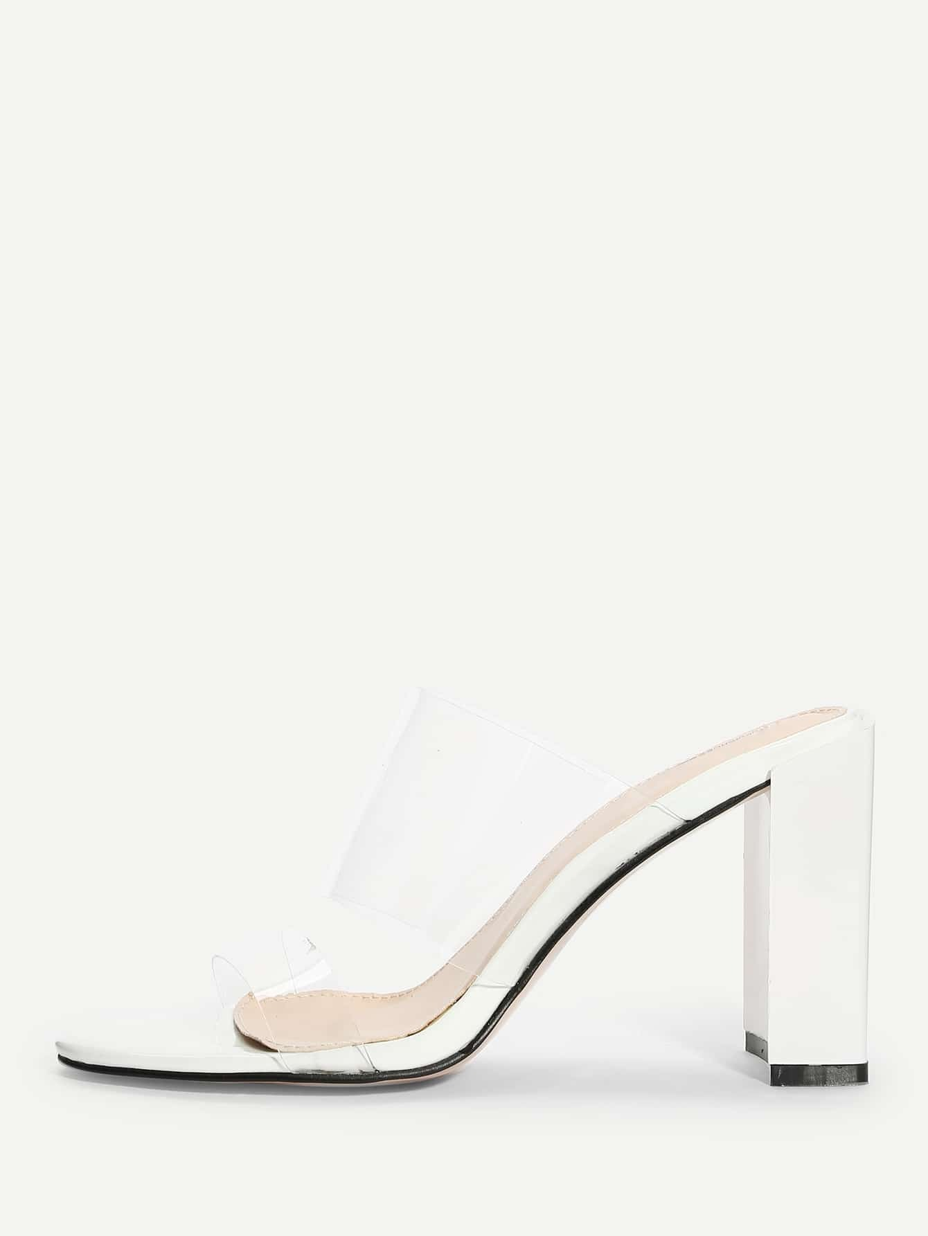 Купить Прозрачные туфли на высоких каблуках с открытой пальцы ноги, null, SheIn