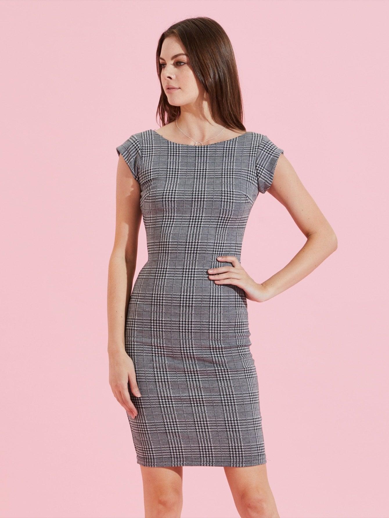 Купить Хаундстут платье с низкой спиной, Sophia Goslitski, SheIn