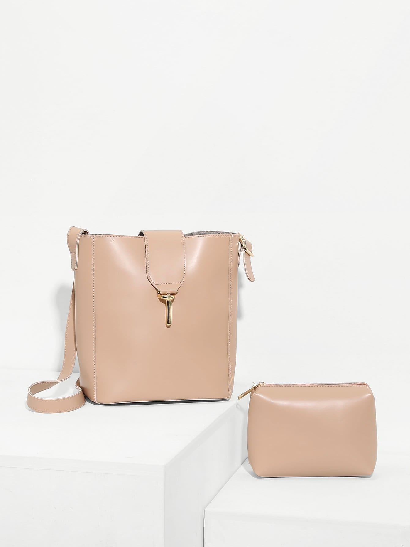 Купить Сумка через плечо и с меленькой сумкой, null, SheIn