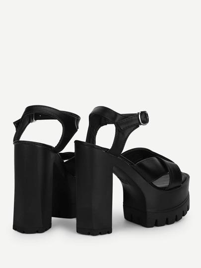 Twisted Straps Lug Sole Platform Sandals