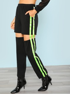 Side Striped Cutout Pant