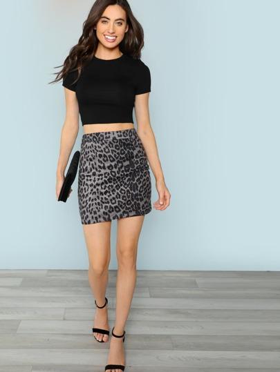 SheIn / Leopard Print Bodycon Skirt