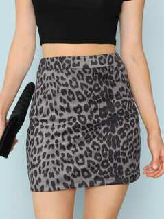 Leopard Print Bodycon Skirt
