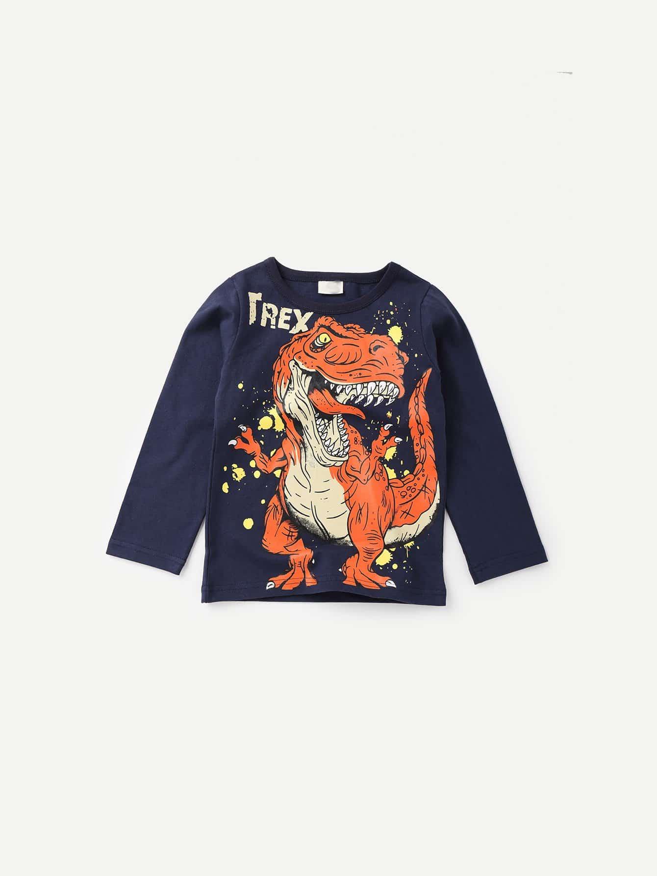 Boys Dinosaur Print Tee