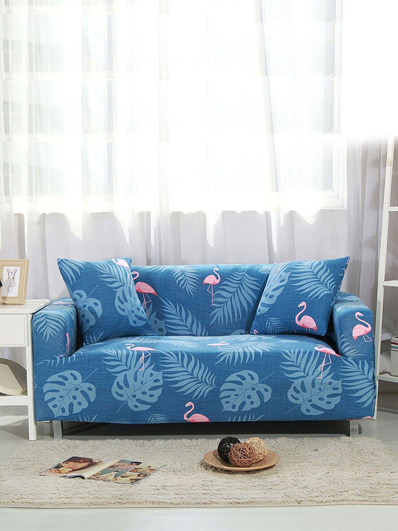 Купить Эластичная Крышка дивана для тропиков и фламинго 1 шт., null, SheIn
