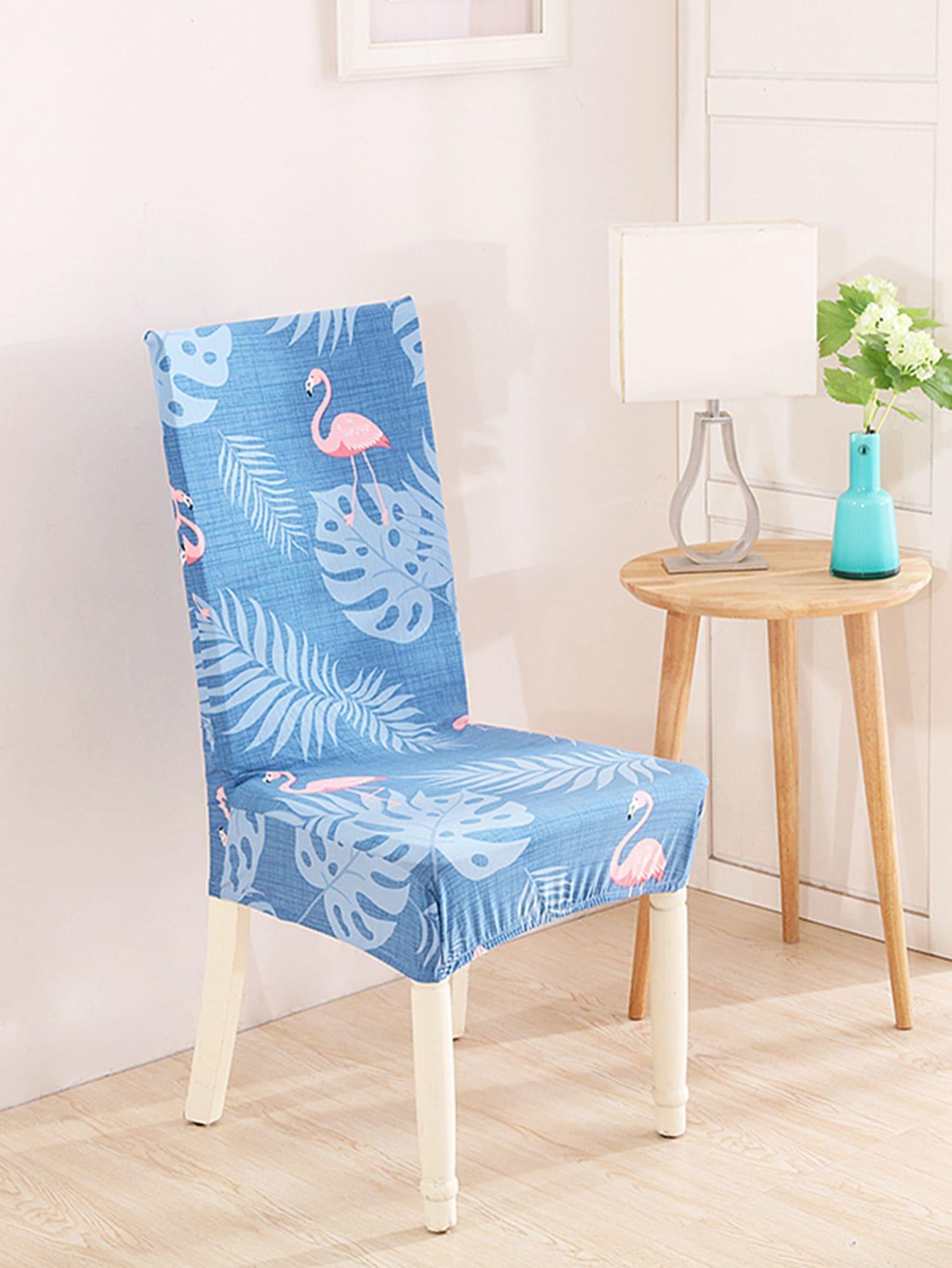 Купить Эластичная Крышка стула для тропиков & фламинго 1 шт., null, SheIn