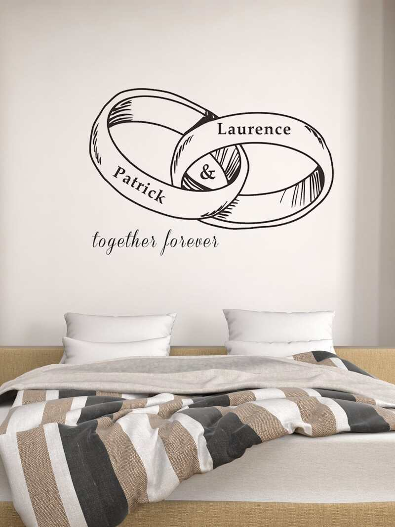 Ring Design Wall Sticker