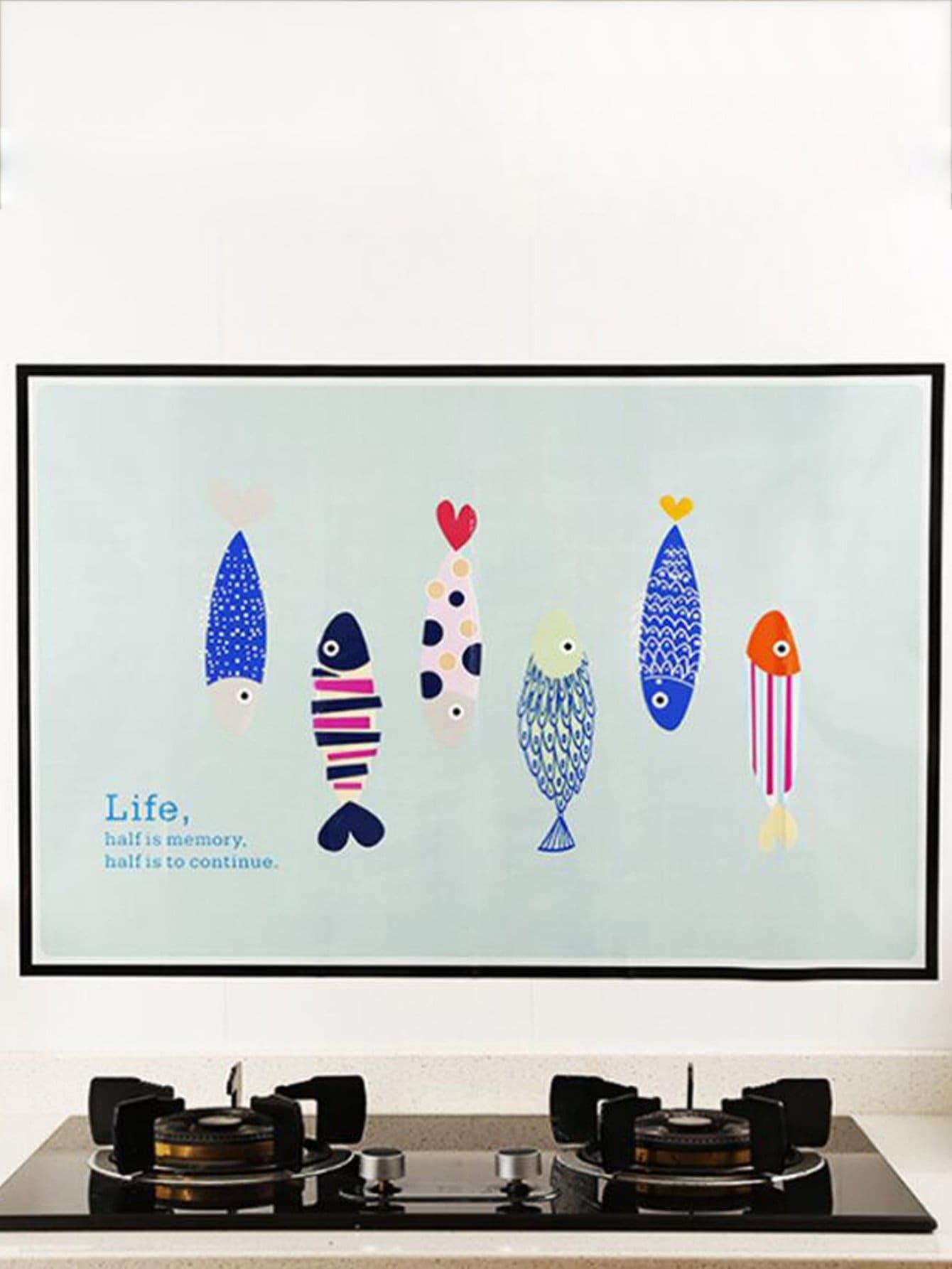 Fish Print Wall Sticker