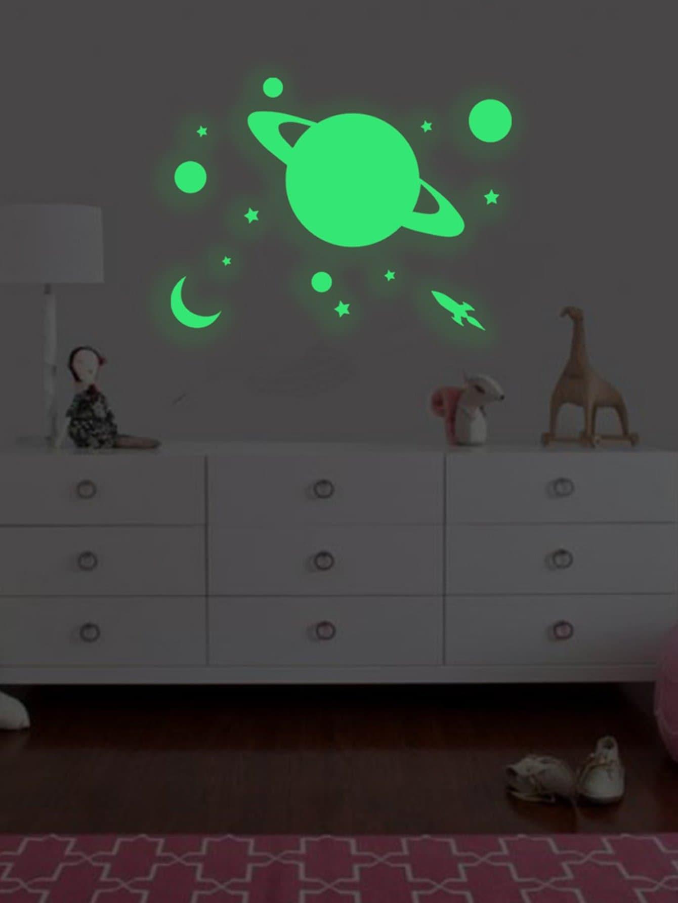 Купить Пластина и звезда Светящиеся наклейки стены, null, SheIn