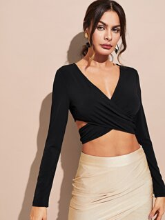 Cross Wrap Crop Top