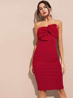 Bow Front Tube Dress