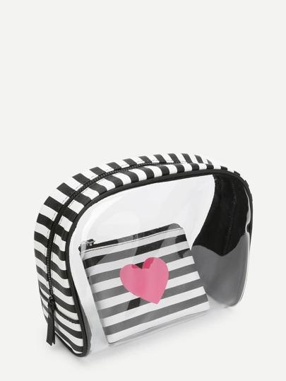 Striped PVC Wallet 2pcs