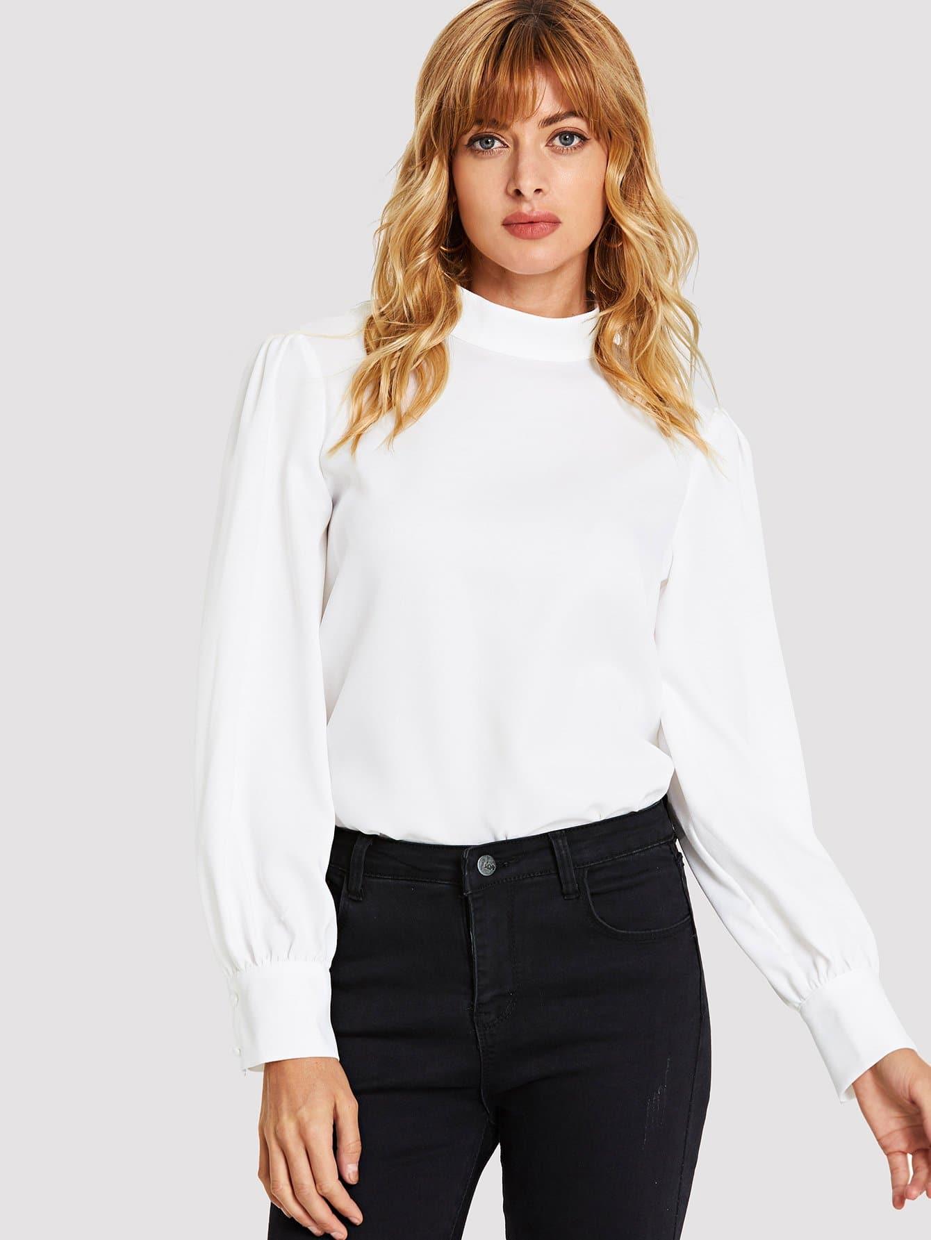 Купить Задняя блузка с вырезом, Masha, SheIn