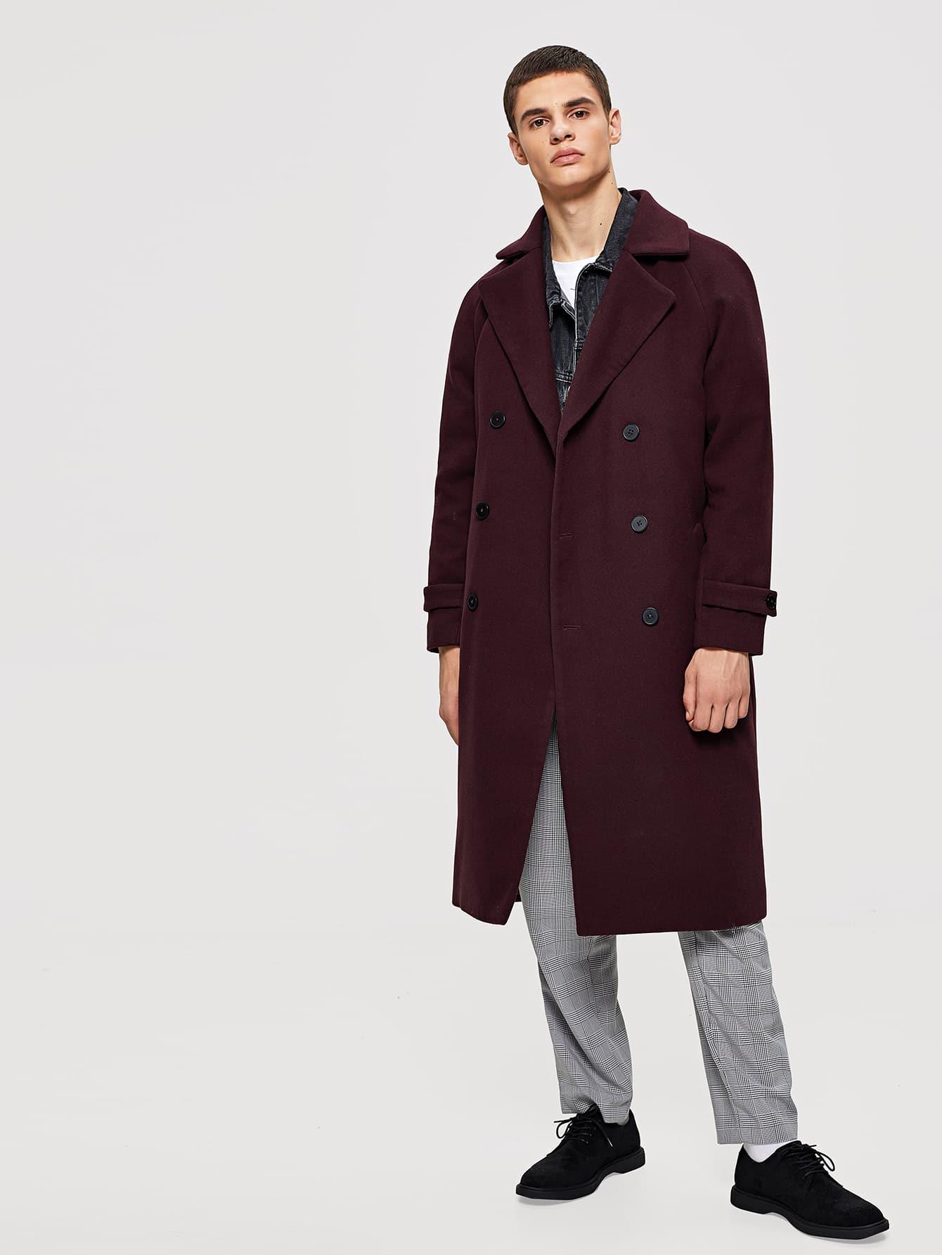 Купить Мужское двойное пальто с водонепроницаемым водопадом, Bono, SheIn